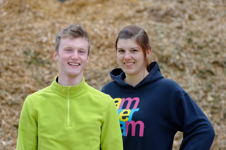 Unsere Ausbildungsbotschafter Jonas Heide und Jana Brendel