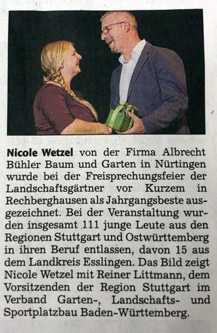Nürtinger Zeitung 17.10.18