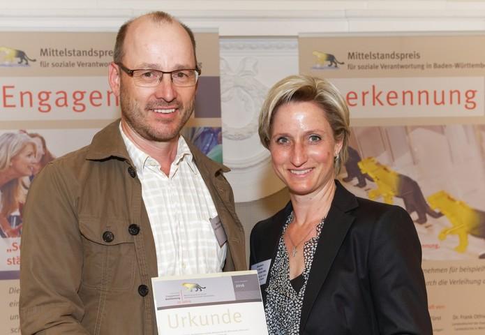 A. Bühler und Wirtschaftsministerin Hoffmeister-Kraut