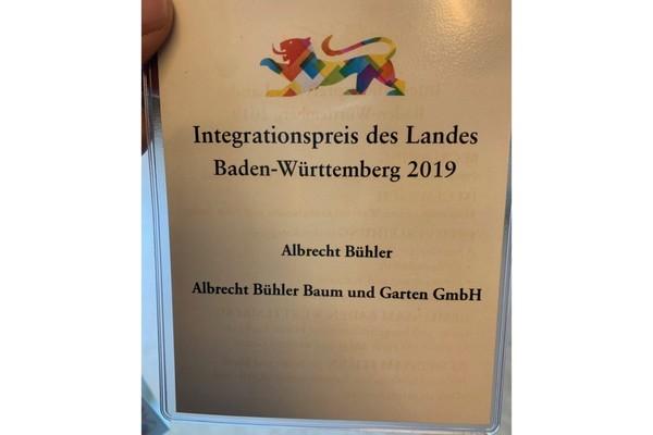 Albrecht Bühler - Sonderpreis als Mitglied der Unternehmerinitiative