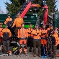 1 Das Baumpflegeteam ist einsatzbereit